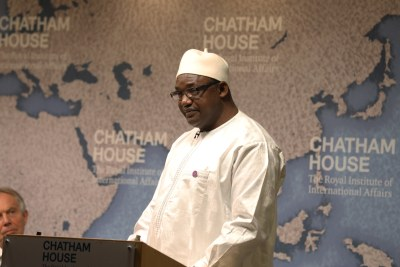 Adama Barrow, President of the Republic of the Gambia, at a Chatham House event in 2018.