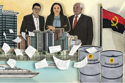 An illustration from the International Consortium of Investigative Journalists #Luanda Leaks investigation.