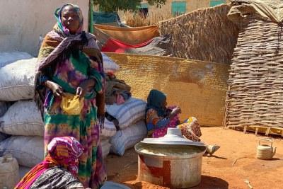 Personnes déplacées au Soudan.