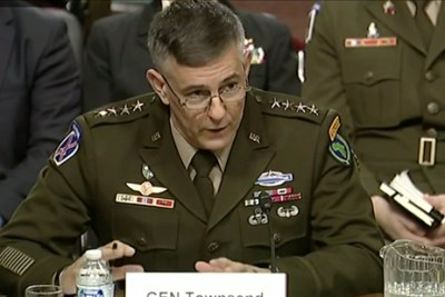 Gen. Stephen Townsend, commander, U.S. Africa Command, presenting 2020 Posture Testimony to the Senate Armed Services Committee Jan. 30, 2020.