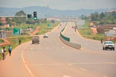 The Kampala-Entebbe expressway (file photo).