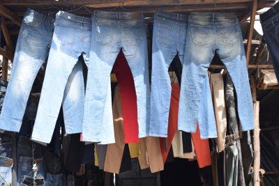 Second hand clothes on display at a stall in Toi Market in Nairobi (file photo).
