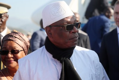 Ibrahim Boubacar Keïta, former president of Mali (file photo).