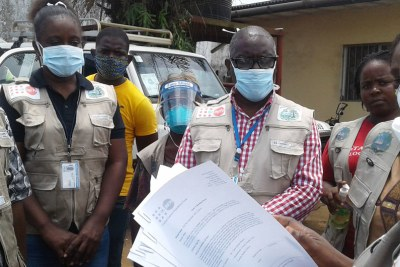 In Liberia, UNFPA is working together with the World Health Organization to co-lead the COVID-19 surveillance effort and the coordination of contact tracing.