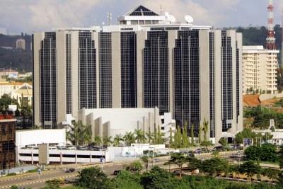 Les bâtiments de la Banque Centrale du Nigeria à Abuja.