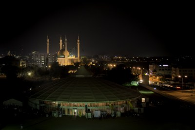 Abuja, Nigeria, at night.