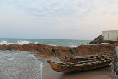 The view from the dungeon of the Cape Coast Castle.