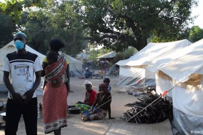 Thousands of people have fled the violence in Cabo Delgado, often ending up in refugee camps like this one in Metuge.