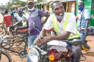 Boda boda operators in Malaba. The border town in Busia County has recorded many coronavirus cases in the recent past.
