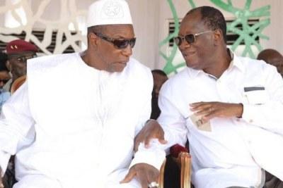 Les présidents Ouattara et Condé