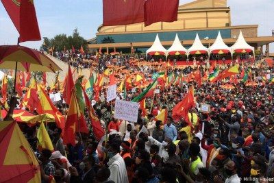 The Tigray People Liberation Front won September's controversial regional elections with 98.5% of the vote. (file image).