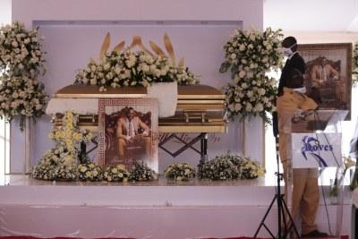 """The funeral of Zimbabwean businessman  Genius """"Ginimbi"""" Kadungure."""