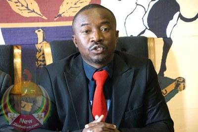 Harare Mayor Jacob Mafume (file photo).