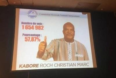 Roch Marc Christian Kaboré, réélu président du Burkina Faso le 26 novembre 2020.