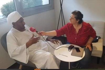 Sadek al-Mahdi en interview avec Houda Ibrahim pour RFI le mardi 21 août 2018 à Paris.