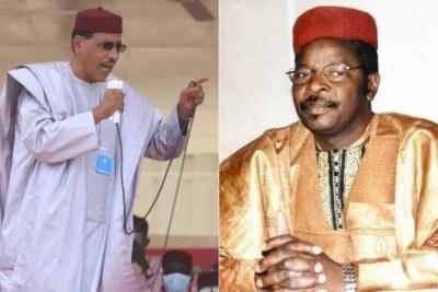 Mahamane Ousmane (à droite) et Mohamed Bazoum (à gauche), les deux candidats qualifiés pour le second tour de la présidentielle au Niger.