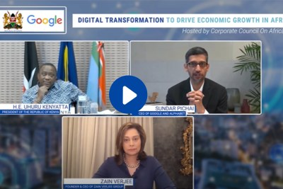 Corporate Council of Africa (CCA) hosted an exclusive high-level dialogue with H.E Uhuru Kenyatta, President of the Republic of Kenya, and Sundar Pichai, CEO of Google and Alphabet on January 29, 2021