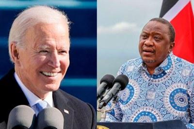 Le président américain  President Joe Biden et son homologue kenyan, Uhuru Kenyatta.