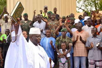 Yahya Jammeh at the last celebration of his accession to power on 22 July 2016. Eleven years earlier, on the same celebration day, he is suspected to have had a direct role in the execution of more than fifty West African migrants.