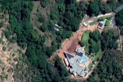 Google satellite view of a luxury house in North West which was partly paid with money that was supposed to be used to build an old age home. Image from Google Maps.