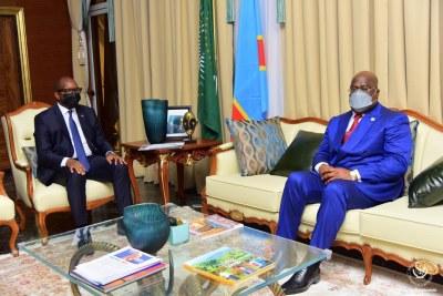 Jean-Michel Sama Lukonde et le président de la RDC Félix Antoine Tshisekedi