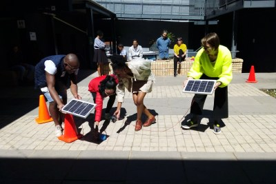 IBM scientists in South Africa host a workshop on building and setting up solar panels (file photo).