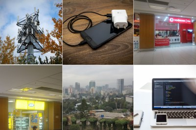 Vodacom, top right, MTN, bottom left, Addis Ababa