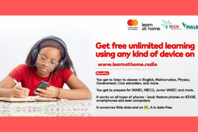 """Already, more than 4 million students have joined audio classes with USSD/SMS support, where they receive educational materials on key subjects, based on the Nigerian Educational Research and Development (NERDC) curriculum for primary and secondary school students. The purpose of www.learnathome.radio  is to ensure children have equal, convenient, and affordable access to quality learning,"""" said, Chidinma Lawanson, Country Head, Mastercard Foundation Nigeria."""