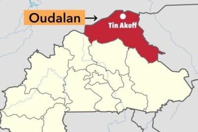 Carte de Tin Akoff à Oudalan