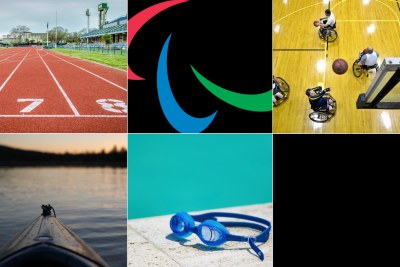 Paralympics symbol and some participating sporting codes