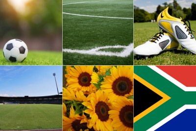 soccer, South African flag (file photo).