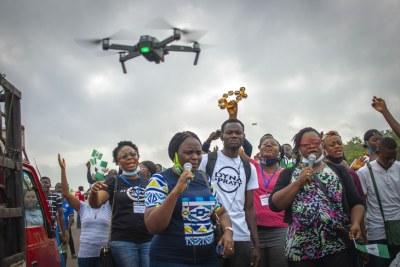 An #EndSARS protest in Abeokuta, Nigeria (file photo).